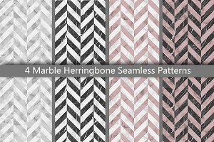 Marble Herringbone Seamless Patterns