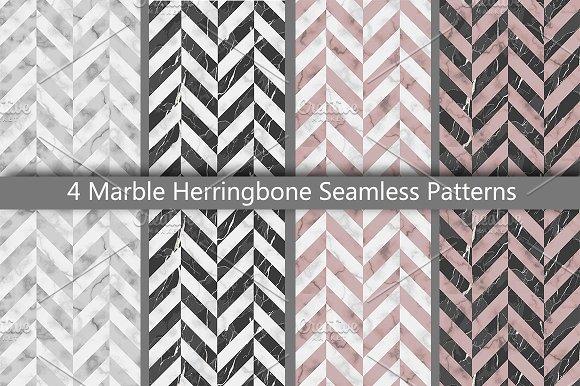 Marble Herringbone Seamless Patterns