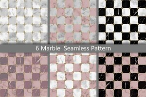 Marble Chessboard Seamless Patterns