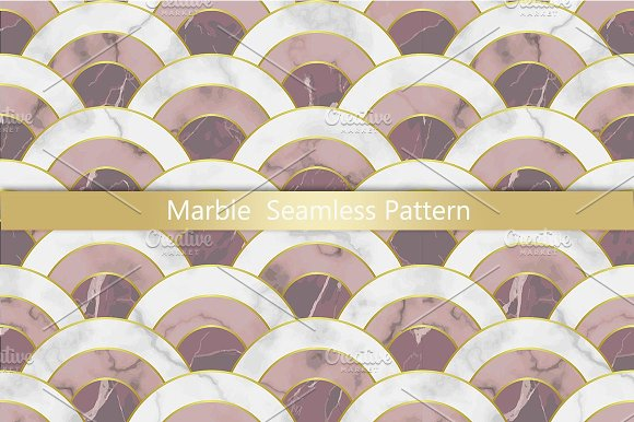 Pink Marble Seamless Pattern