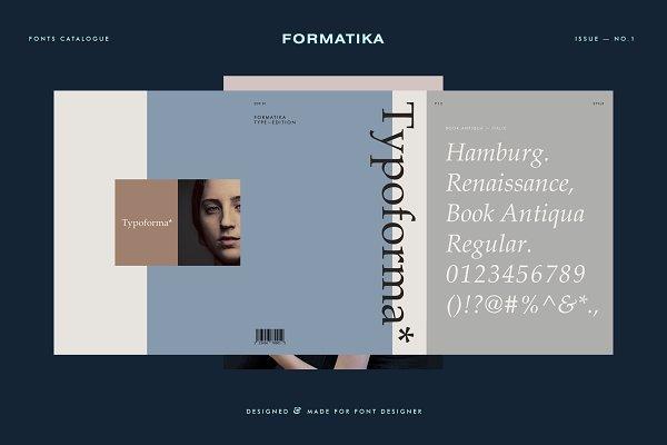 Magazine Templates: Formatika - Typoforma - Type Catalogue No.1