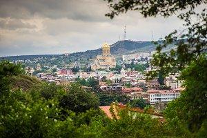 Tbilisi downtown cityscape