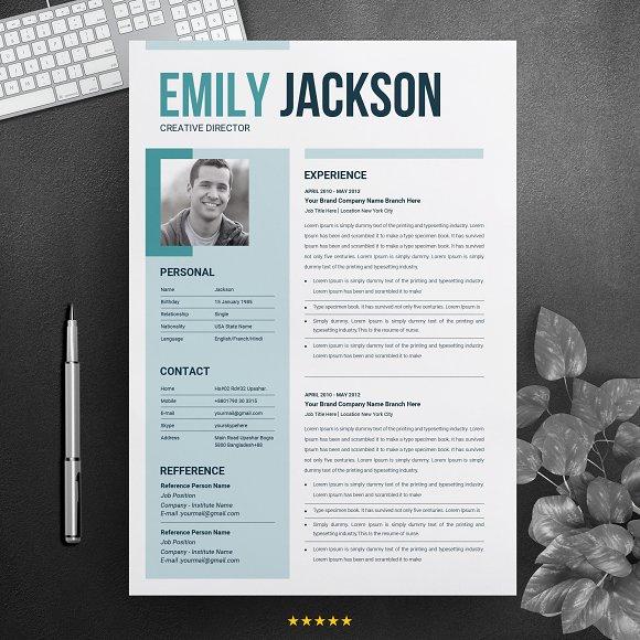 Modern Resume Template For Microsoft