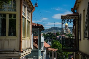 Tbilisi old town summertime