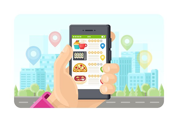 Online Meals Search Phone App