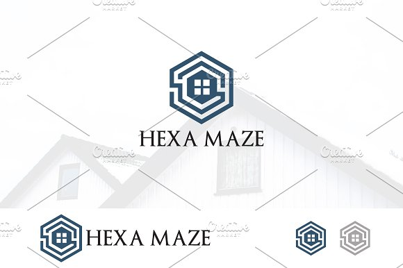 Hexagon Maze House Logo