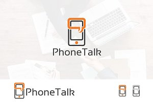 Mobile Phone Talk Message Logo
