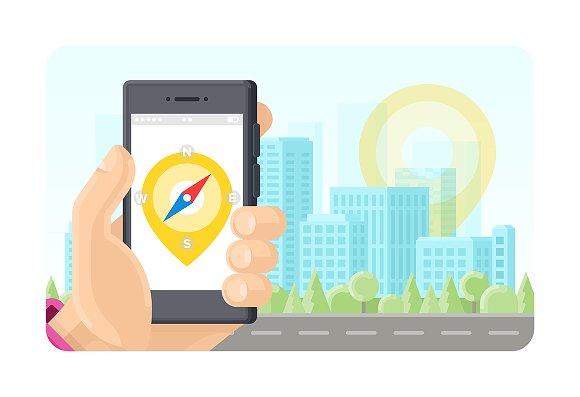 Online Gps Poi Navigation Phone App