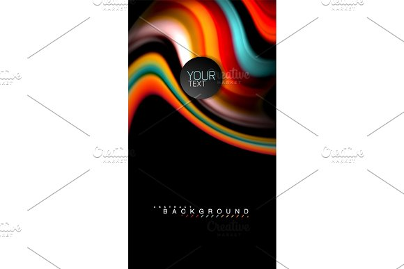 Blur Color Wave Lines Abstract Background