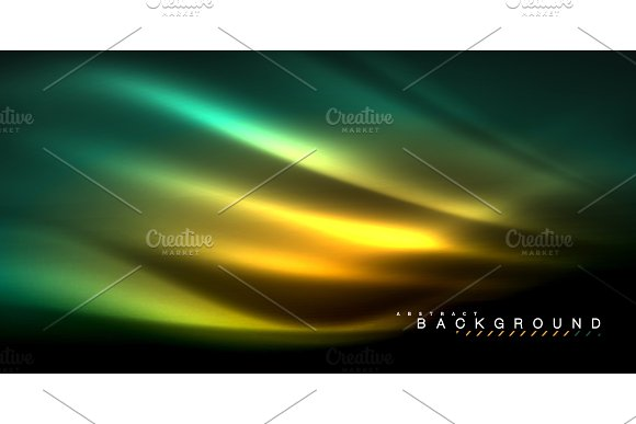 Neon Glowing Wave Magic Energy And Light Motion Background