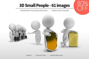3D Small People - Set 09