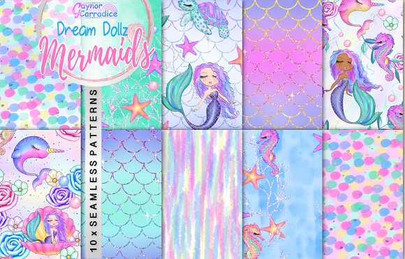 Dream Dollz Mermaids Patterns