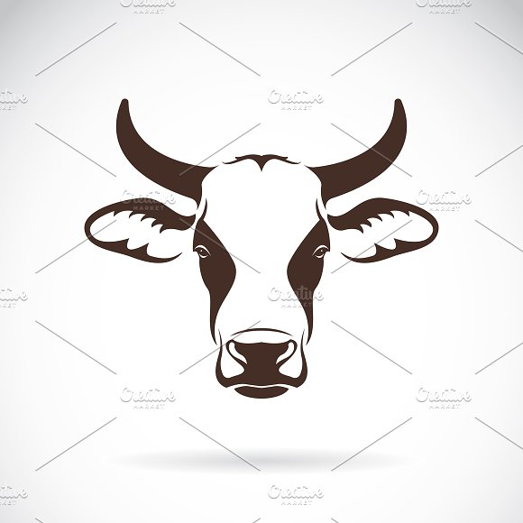Vector Of A Cow Head Design