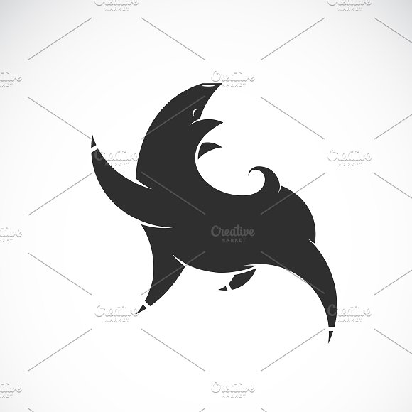 Vector Of Black Pig Design Animal