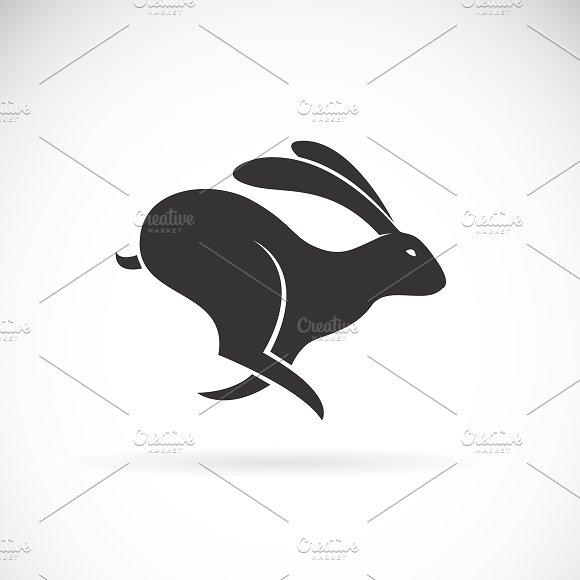 Vector Of Black Rabbit Is Running