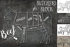 Beef Butcher Cuts Set 1