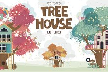 Tree House collection by Mio Buono in Illustrations