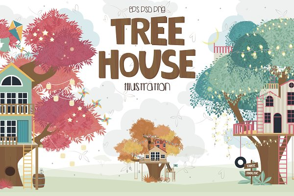 Illustrations and Illustration Products: Mio Buono - Tree House collection