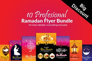 10 Ramadan Iftar Flyer Bundle Vol:02