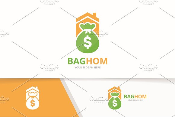 Vector bag and real estate logo   in Logo Templates - product preview 1