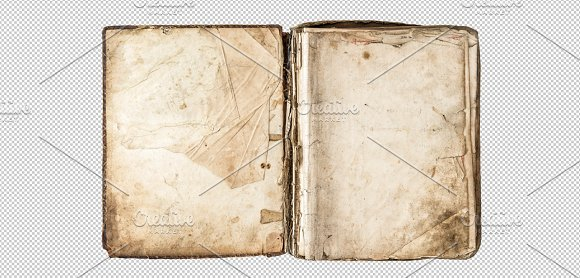 PNG Old Book With Aged Pages Graphic Objects Creative Market