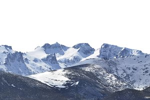 Snowy mountains isolated
