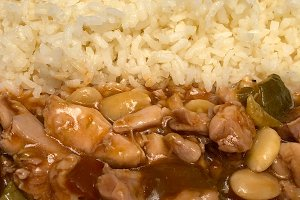 chicken in sauce with rice