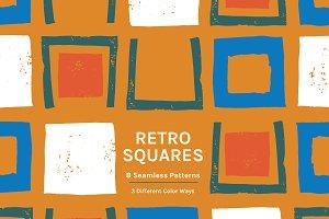 Retro Squares | Seamless Patterns