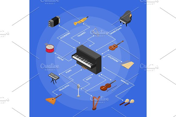 Musical Insrtuments Concept Vector