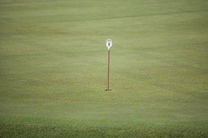pennant in golf hole