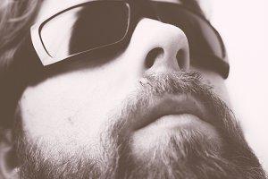 Portrait of beard man