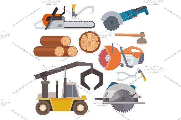 Sawmill Woodcutter Tools Logging Equipment Lumber Machine Industrial