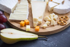 Delicious cheese with fruits