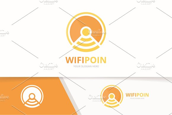 Vector Coin And Wifi Logo Combination Money And Signal Symbol Or Icon Unique Cash And Radio Internet Logotype Design Template