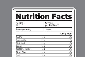 nutrition facts photos graphics fonts themes templates