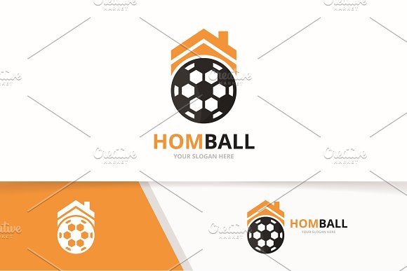 Vector Soccer And Real Estate Logo Combination Ball And House Symbol Or Icon Unique Football And Rent Logotype Design Template
