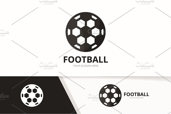Vector Soccer And Sport Logo Combination Ball Symbol Or Icon Unique Football Logotype Design Template