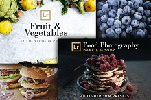 Food Bundle - 72 Lightroom Presets by Jan in Add-Ons