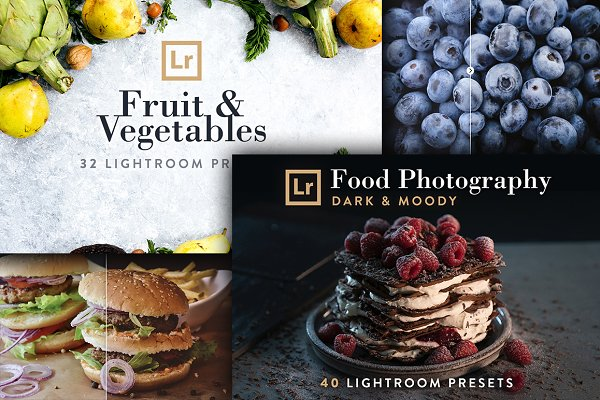 Actions: PhotoMarket - Food Bundle - 72 Lightroom Presets