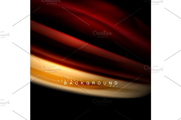 Fluid Mixing Colors Vector Wave Abstract Background Design Colorful Mesh Waves