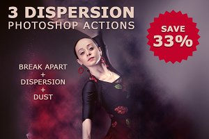 3 Dispersion Photoshop Action Bundle