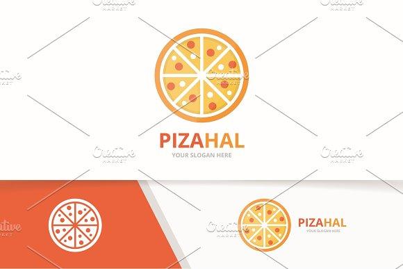 Vector Pizza Logo Combination Food Symbol Or Icon Unique Pizzeria And Restaurant Logotype Design Template