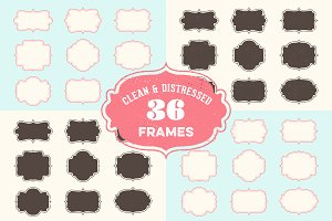 Vintage Frames & Badges