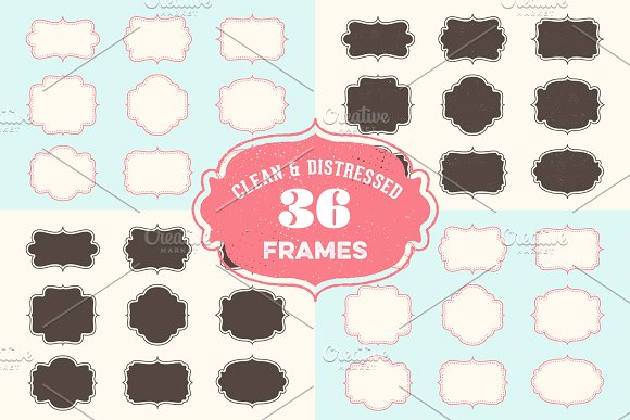 Vintage Frames Badges