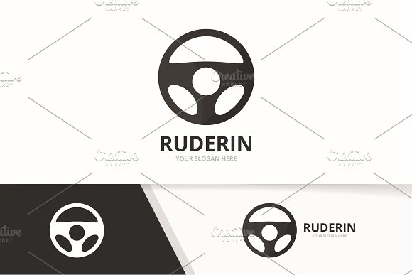 Vector car helm logo combination.  in Logo Templates - product preview 1