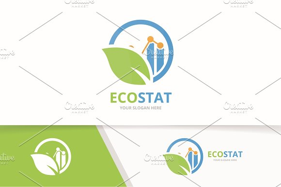 Vector Graph And Leaf Logo Combination Diagram And Eco Symbol Or Icon Unique Chart And Organic Logotype Design Template