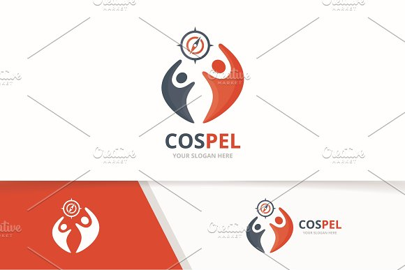 Vector Compass And People Logo Combination Navigation And Family Symbol Or Icon Unique Travel And Union Help Connect Team Logotype Design Template