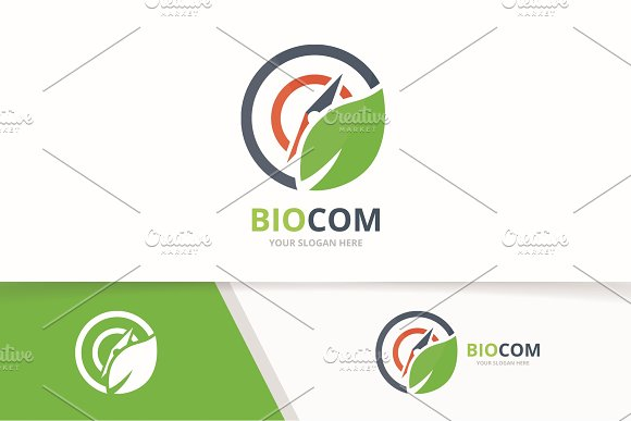 Vector Compass And Leaf Logo Combination Navigation And Eco Symbol Or Icon Unique Travel And Organic Logotype Design Template
