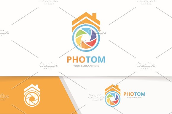 Vector Camera Shutter And Real Estate Logo Combination Lens And House Symbol Or Icon Unique Photo And Rent Logotype Design Template