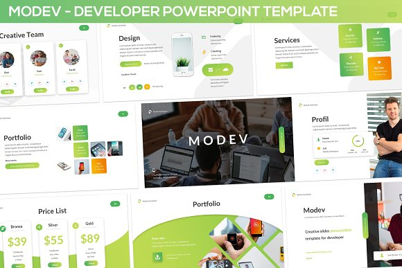 Modev Powerpoint Template